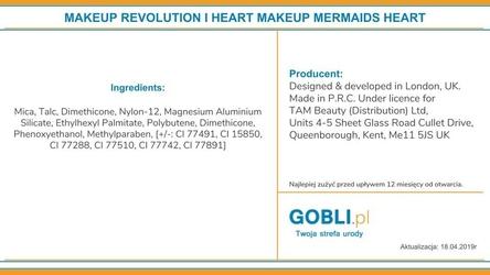 Makeup revolution i heart makeup mermaids heart, wypiekany rozjaśniacz do twarzy 10g