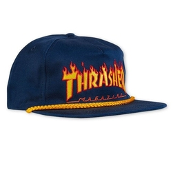Czapka thrasher flame rope snap nvy - nvy