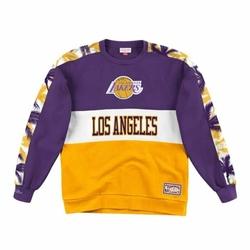 Bluza Mitchell  Ness Leading Scorer Fleece Crew Los Angeles Lakers - FCNKDF18025-LALPURP - Los Angeles Lakers