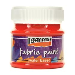 Farba do tkanin Pentart 50 ml - czerwona - CZE