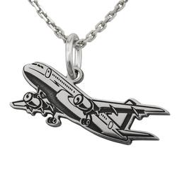 Wisiorek srebrny samolot- 1