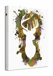 Splatter Silhouette Stag - obraz na płótnie
