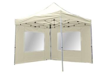 Namiot ogrodowy 3x3 m automatyczny profi, beżowy pawilon handlowy ze ściankami