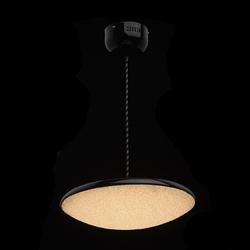 Okrągła lampa wisząca led do jadalni, błyszczący czarny, rozpraszacz światła 703011101