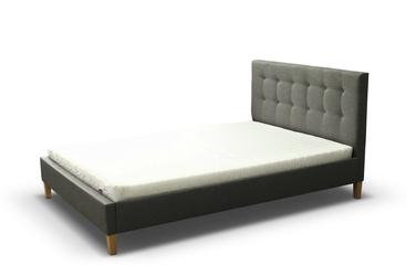 Łóżko tapicerowane ze stelażem david 160x200