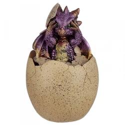 Jajo z fioletowym smoczątkiem - mała szkatułka
