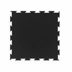 Profesjonalna podłoga pod wolne ciężary premium puzzle czarna - marbo sport - 30-50 mm