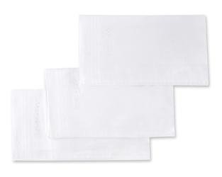 Eleganckie chusteczki męskie bawełniane białe 3szt
