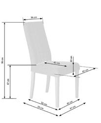 Tapicerowane krzesło na białych nogach diego