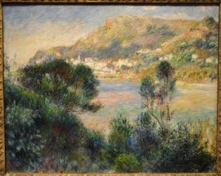 Reprodukcja view from cap martin of monte carlo, renoir auguste