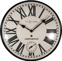 Zegar ścienny z oddzielnym sekundnikiem Amsterdam Dome Nextime 30 cm 3231