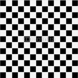 Naklejka samoprzylepna bezszwowych czarno-białych kratkę tekstury