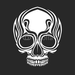 Board z aluminiowym obramowaniem stylizowane czaszki
