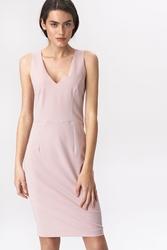 Różowa sukienka mini, elegancka różowa sukienka
