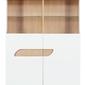 Szeroka witryna dwudrzwiowa z oświetleniem avero biały połysk