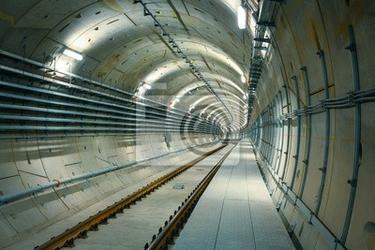Fototapeta podziemnej linii metra na budowie