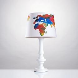 Lampka nocna mapa świata duża