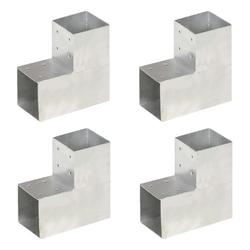Vidaxl łączniki w kształcie l, 4 szt., galwanizowany metal, 101x101 mm