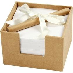 Karteczki w pudełeczku z ołówkiem 7,5x7,5x5 cm