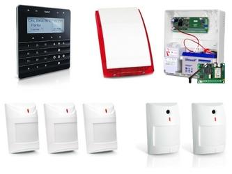 Zestaw alarmowy satel integra 24, klawiatura sensoryczna, 5 czujek, sygnalizator zewnętrzny, powiadomienie sms - szybka dostawa lub możliwość odbioru w 39 miastach