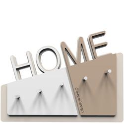 Wieszak na klucze Home CalleaDesign caffelatte  biały 18-001-14