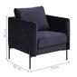 Fotel wypoczynkowy kingsley actona ciemny niebieski welur
