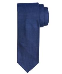 Jedwabny ciemnoniebieski krawat Profuomo Imperial Oxford 7 fold
