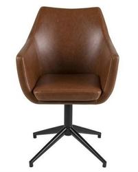 Tapicerowany fotel obrotowy nora brandy ekoskóra