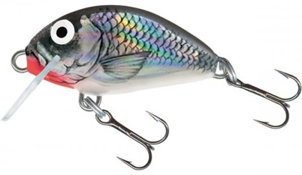 Wobler salmo tiny sinking 3cm2,5g, holographic grey shiner