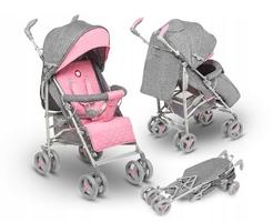 Lionelo irma pink lekki wózek spacerowy + folia