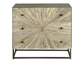 Drewniana komoda santana w stylu loftowym  wys. 71 cm