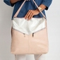 Torebka damska shopper bag 0008 różowa srebrna - srebrny