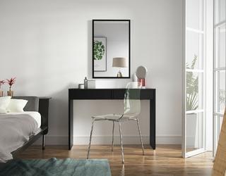 Toaletka z szufladami pina 115 cm czarna nowoczesna