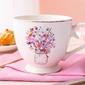 Duży kubek na stópce  filiżanka jumbo porcelanowa na prezent altom design romantic 350 ml, dekoracja c