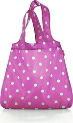 Torba na zakupy mini maxi shopper magenta dots