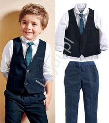 Komplet elegancki dla chłopca na święta, na urodziny, 4 częściowy