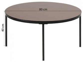 Stolik kawowy gino brązowy szkłometal