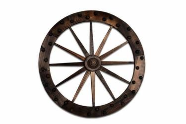 Koło drewniane od wozu - dekoracja