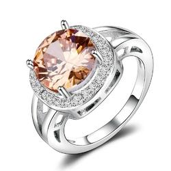 Posrebrzany pierścionek z dymnym kwarcem