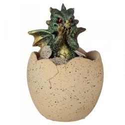 Jajo z zielonym smoczątkiem - mała szkatułka