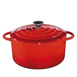 Kuchenprofi - provence - garnek do zapiekania, ⌀ 26,00 cm, czerwony - czerwony