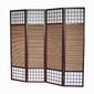 Parawan drewniany 4-skrzydłowy, bambus i papier ryżowy