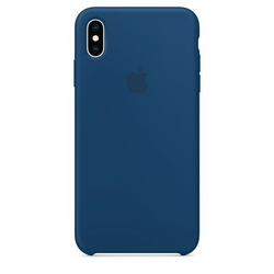 Apple etui silikonowe iphone xs max - burzowy błękit