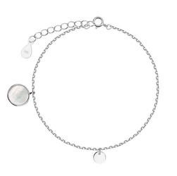 Staviori bransoleta 19cm. masa perłowa. srebro rodowane 0,925.