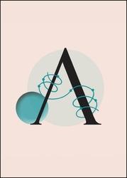 Litera a - plakat wymiar do wyboru: 40x50 cm