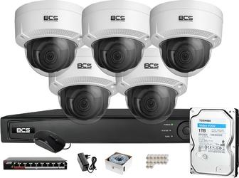 Zestaw monitoringu bcs view rejestrator ip 5x kamera 4k bcs-v-di831ir3