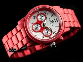 Zegarek czerwony perfect - fiesta -  zp684a