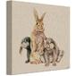 Trzy króliczki - obraz na płótnie