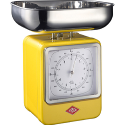Waga kuchenna żółta z zegarem Wesco 322204-19
