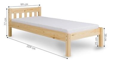 Łóżko drewniane zesco 90x200 wiele kolorów